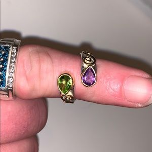 Amethyst & green peridot ring!